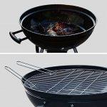 Alice's Garden - Barbecue charbon de bois Ø57cm - Georges noir émaillé - Barbecue avec aérateurs, émaillé, fumoir, récupérateur de cendres de la marque Alic TOP 3 image 1 produit