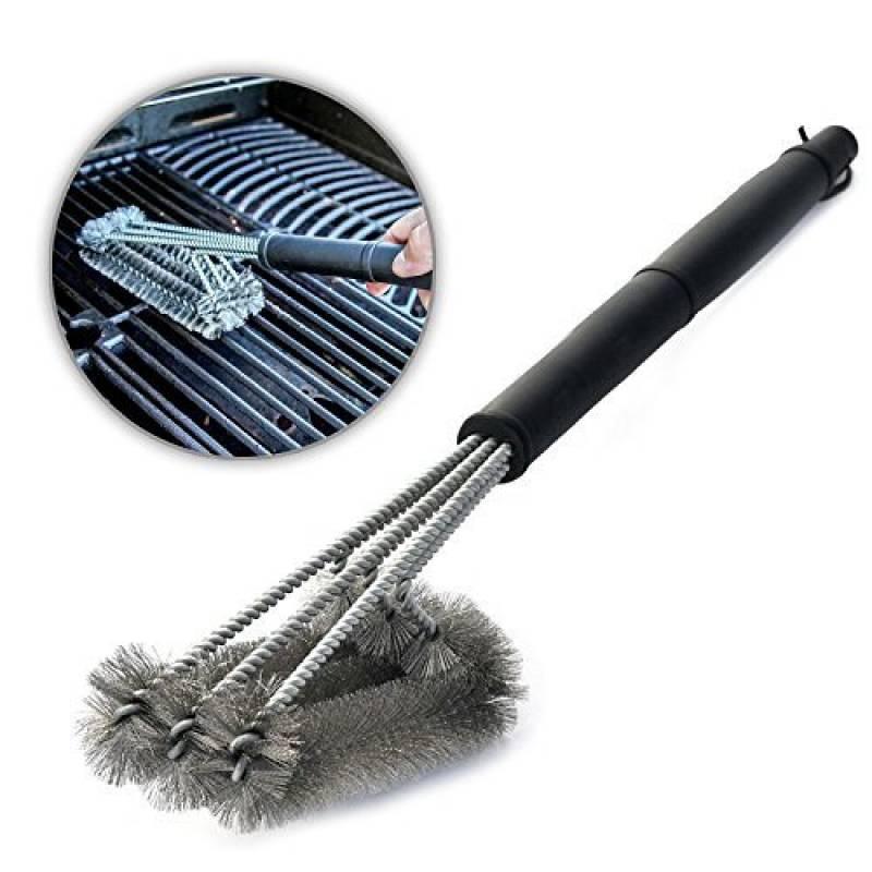 """Aodoor Brosses à barbecue 18"""" - acier inoxydable 3 brosses, avec un manche long et ergonomique, Meilleur outils de nettoyage 360°pour grille et barbecue au char TOP 4 image 0 produit"""