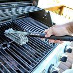 """Aodoor Brosses à barbecue 18"""" - acier inoxydable 3 brosses, avec un manche long et ergonomique, Meilleur outils de nettoyage 360°pour grille et barbecue au char TOP 4 image 2 produit"""