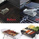 """Brosse de barbecue par Asscom - 18"""" - 3 brosses en acier inoxydable en 1 et une petite brosse en 100% silicone – Le meilleur nettoyeur de Barbecue – Nettoyeur c TOP 6 image 2 produit"""