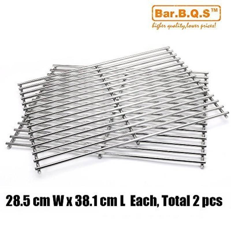 Qualité bar. b.q.s Lot de 27521(, 585.75mm x 381mm) en acier inoxydable grille de cuisson pour Weber Genesis Argent un et le Weber Spirit 500gaz grilles de TOP 8 image 0 produit