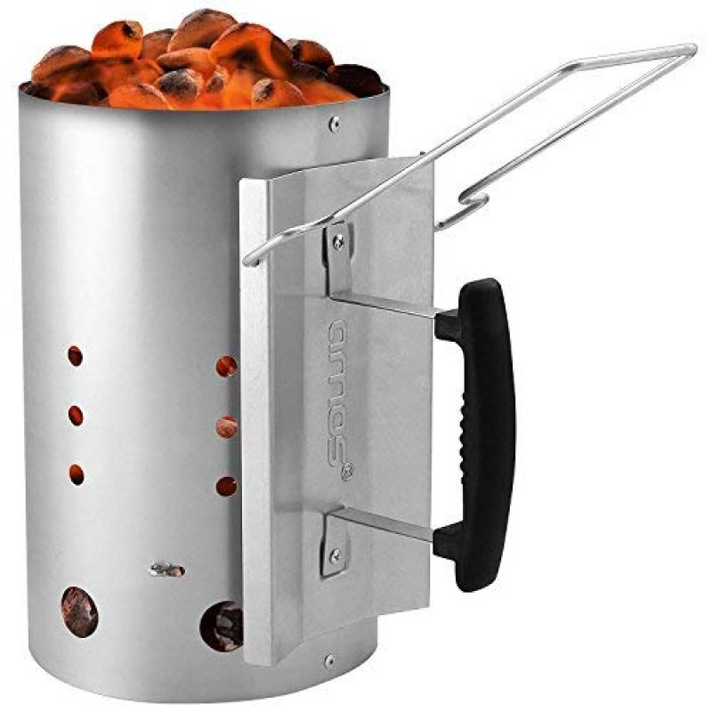 AMOS Cheminée D'allumage Pour BBQ Gril Barbecue à Charbon De Bois et Briquettes Brûleur Briquet Allumage de Démarrage Rapide Kit D'éclairage de Acier Ga TOP 2 image 0 produit