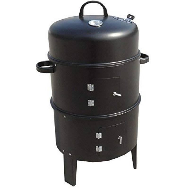Anaelle Pandamoto 3in1 BBQ Barbecue au Charbon en Acier Grille Fumeur sur Jardin, Cuisine, Camping, Patio, Taille: 42*82cm, Poids: 6kg, Noir de la marque panana TOP 4 image 0 produit