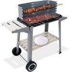 Barbecue mobile 55x35cm - BBQ avec roues Grill Plan de travail - Jardin Camping de la marque Deuba TOP 7 image 1 produit