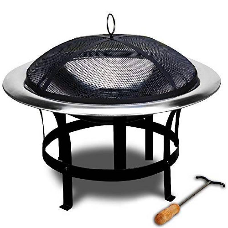 Braséro de jardin avec couvercle en Acier 75cm camping barbecue chauffage extérieur de la marque Deuba TOP 1 image 0 produit