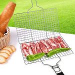 fourHeart Rectangulaire Grille/panier de barbecue avec poignée en bois 1PCS ,Double grill tourneur de la marque Forest Master TOP 2 image 1 produit