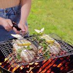 fourHeart Rectangulaire Grille/panier de barbecue avec poignée en bois 1PCS ,Double grill tourneur de la marque Forest Master TOP 7 image 2 produit