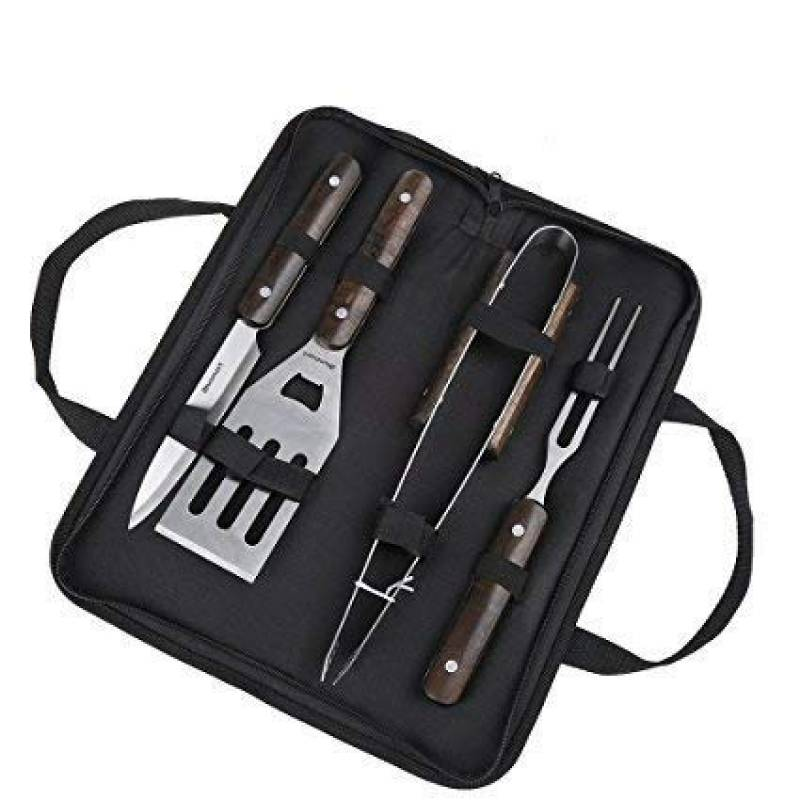 Kit Ustensiles Barbecue, en acier inoxydable - avec mallette, 4 pièces, 12 mois de garantie de la marque Blusmart TOP 7 image 0 produit