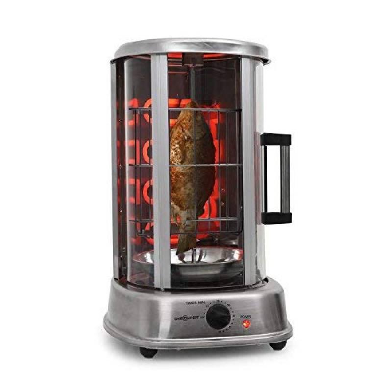 oneConcept Fish Basket • Panier à friture Kebab Master Pro • Accessoire 2 pièces inox • Idéal pour préparer des poissons ou des steaks avec le barbecue vertical TOP 2 image 0 produit