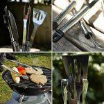 QMQ Lot de 5 outils pour barbecue en acier inoxydable de la marque QMQ TOP 4 image 2 produit
