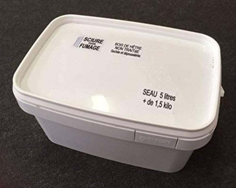 Sciure de hêtre pour fumage -Non traitée- Seau 5,6 litres.+de1,5 kilo de la marque Potiers TOP 1 image 0 produit