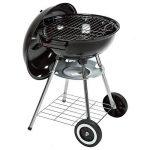 TecTake Barbecue à charbon de bois rond avec couvercle, roues et poignée de la marque TecTake TOP 12 image 1 produit