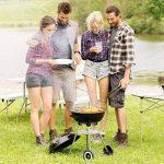TecTake Barbecue à charbon de bois rond avec couvercle, roues et poignée de la marque TecTake TOP 12 image 2 produit