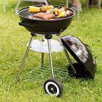 TecTake Barbecue à charbon de bois rond avec couvercle, roues et poignée de la marque TecTake TOP 5 image 1 produit