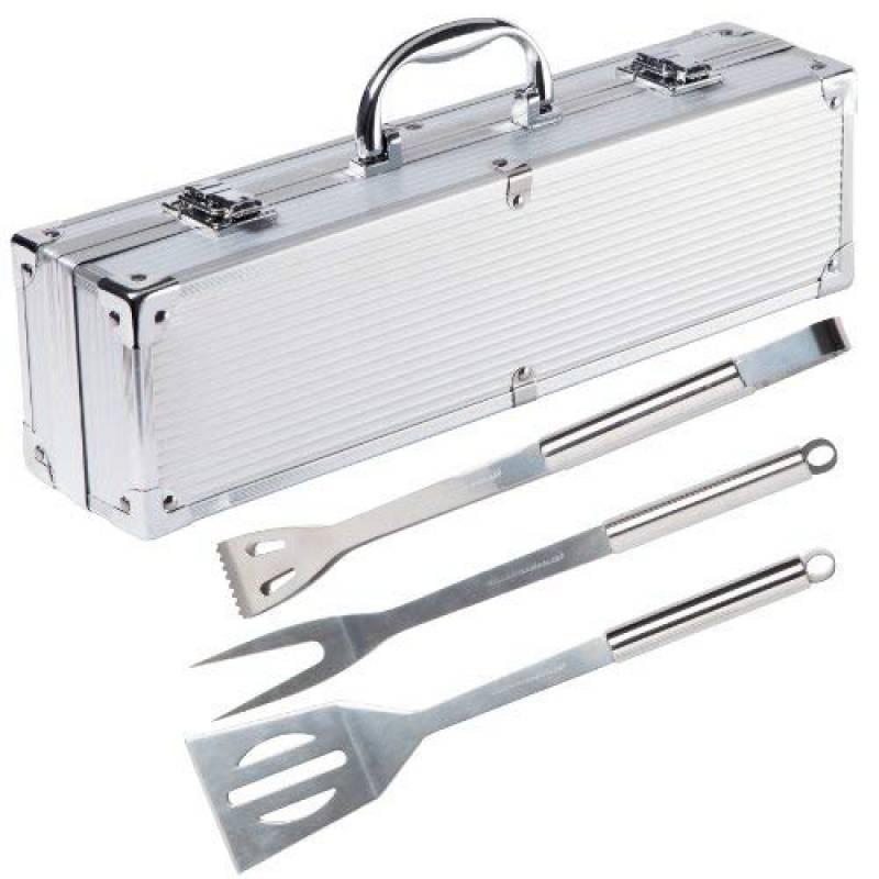 Ultranatura Set de 3 couverts à barbecue en acier inoxydable dans sa valise en alu de la marque Ultranatura TOP 6 image 0 produit