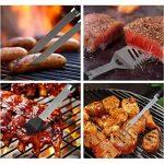Bonus résistant à la chaleur Gant de Barbecue–Kit cadeau–longue poignée antidérapante–5Pièces en acier inoxydable pour barbecue grill Ensemble Outil en é TOP 5 image 1 produit
