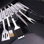 BrilliantDay 6 pièces en acier inoxydable pour barbecue avec étui de rangement en aluminium - jeu d'outils de Grill Barbecue professionnel de la marque Brillian TOP 10 image 2 produit