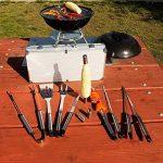 Flamen Lot de 14 outils en acier inoxydable pour barbecue. de la marque Flamen TOP 10 image 3 produit
