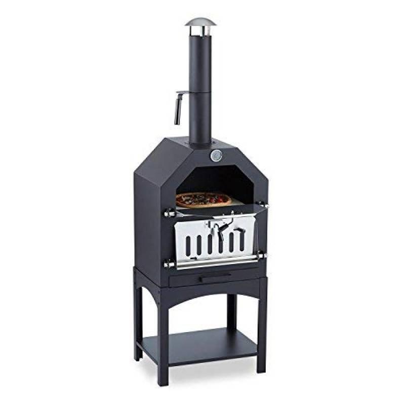 Klarstein Pizzaiolo Four à bois á charbon • Pierre à pizza au feu de bois • Avec grillade cuisson et fumage • Thermomètre intégré • Vidange facile du tiroir à c TOP 5 image 0 produit
