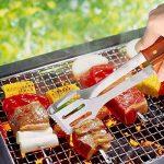 sunjas 18 pièces Set de barbecue set couverts Outdoor, barbecue, barbecue set de barbecue Barbecue, Fourchette,Brosse, Pinceau, pince, spatule, Ventilateur Souf TOP 8 image 2 produit