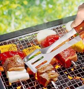 sunjas 18 pièces Set de barbecue set couverts Outdoor, barbecue, barbecue set de barbecue Barbecue, Fourchette,Brosse, Pinceau, pince, spatule, Ventilateur Souf TOP 8 image 2 produit