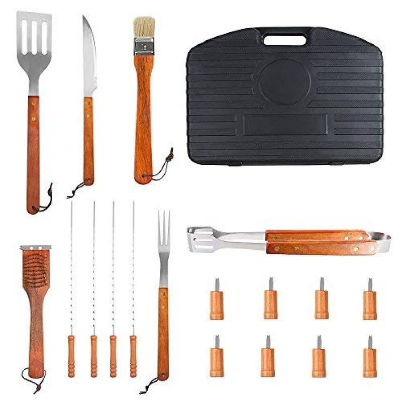 sunjas 18 pièces Set de barbecue set couverts Outdoor, barbecue, barbecue set de barbecue Barbecue, Fourchette,Brosse, Pinceau, pince, spatule, Ventilateur Souf TOP 8 image 0 produit