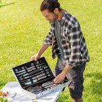 TecTake Kit 25 pièces accessoires et couverts Gril-Barbecue BBQ en acier inoxydable avec mallette argenté de la marque TecTake TOP 4 image 1 produit
